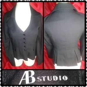 AB STUDIO Ladies Black Blazer sz. 12